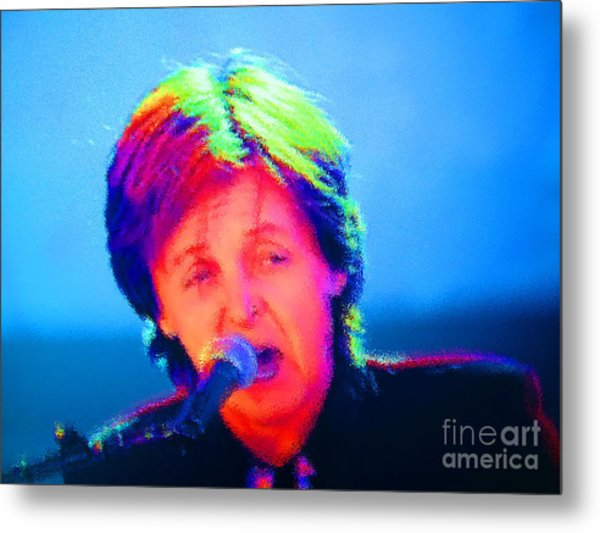 Sir Paul Glowing Metal Print