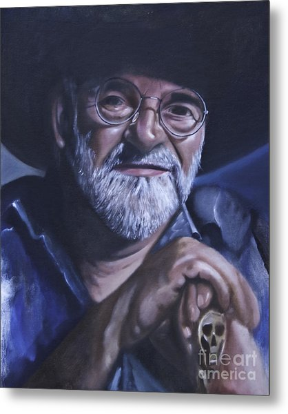 Sir Terry Pratchett Metal Print