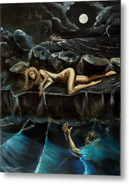 Metal Print featuring the painting Sirensong by Steve Ozment