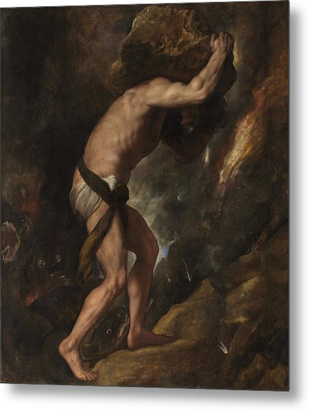 Metal Print featuring the painting Sisyphus by Titian