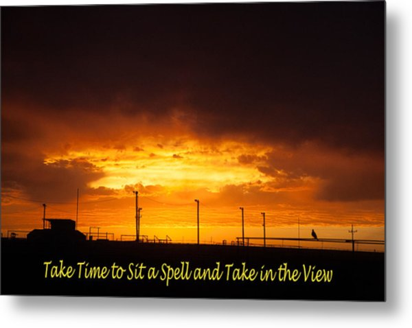 Sit A Spell Sunset Metal Print