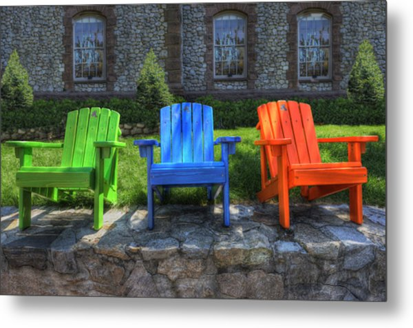 Sit Back Metal Print