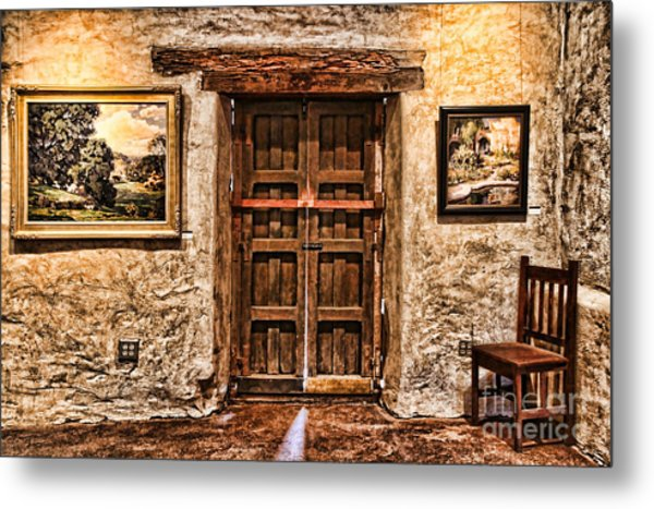 Sitting By The Door By Diana Sainz Metal Print