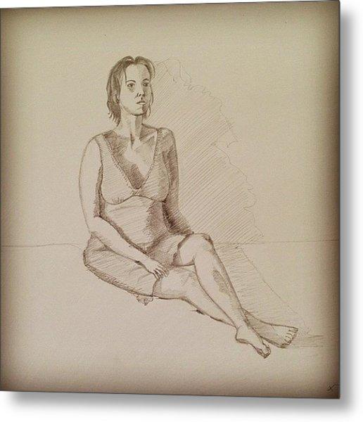 Sitting Postures #sketch #figure Study Metal Print