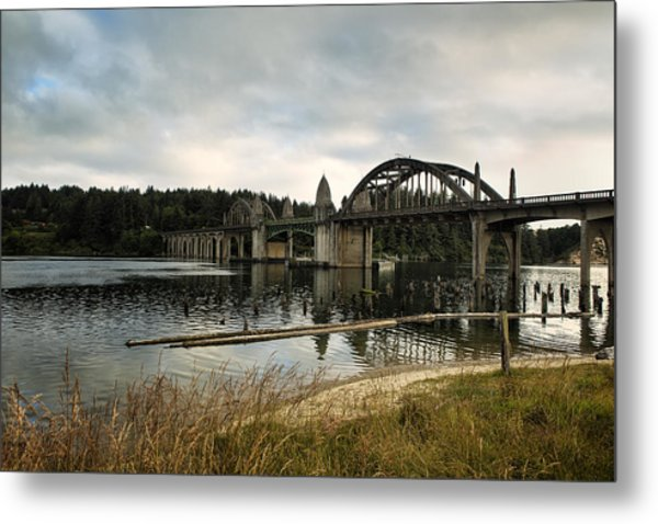 Siuslaw River Bridge Metal Print