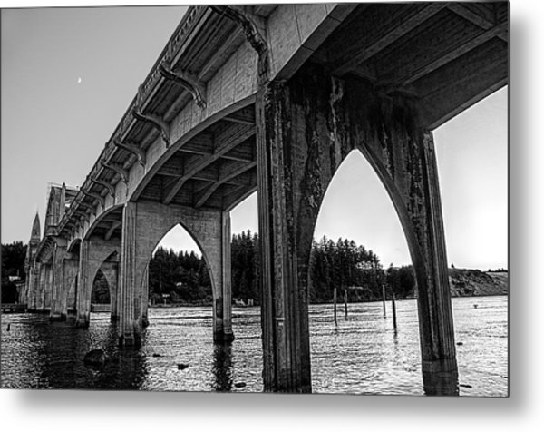 Siuslaw River Bridge Portrait Metal Print