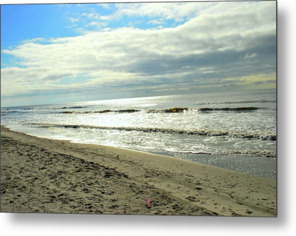 Siver Sea Metal Print by F Salem