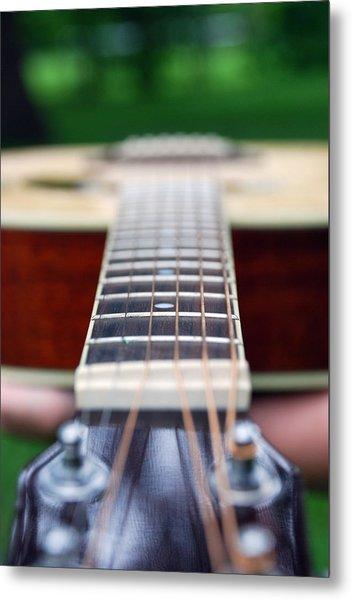 Six String Music Metal Print