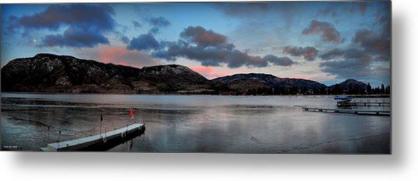 Skaha Lake Panorama 02-19-2014 Metal Print
