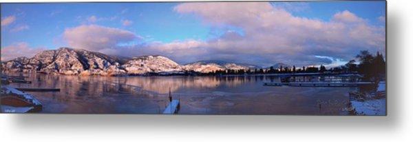 Skaha Lake Panorama 2/5/2014  Metal Print