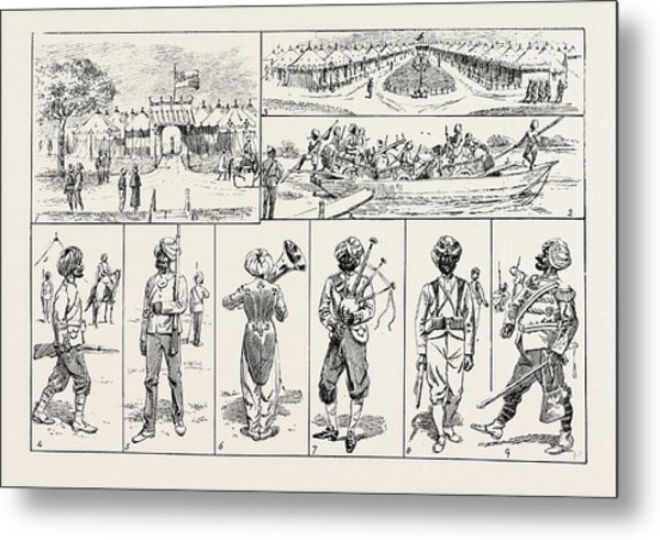 Sketches At The Rawul Pindi Durbar, 1885. 1. Entrance Metal Print