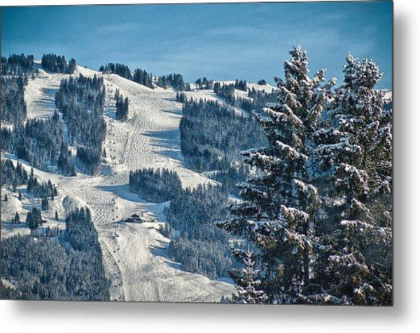 Ski Run Metal Print