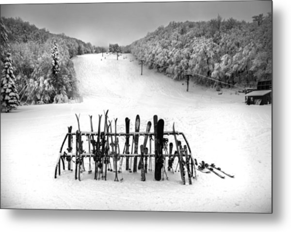 Ski Vermont At Middlebury Snow Bowl Metal Print