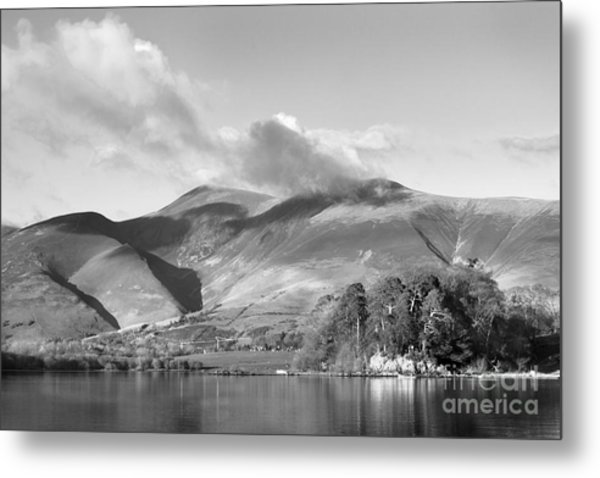 Skiddaw And Friars Crag Mountainscape Metal Print