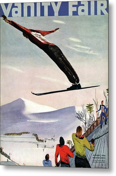 Ski Jump On Vanity Fair Cover Metal Print