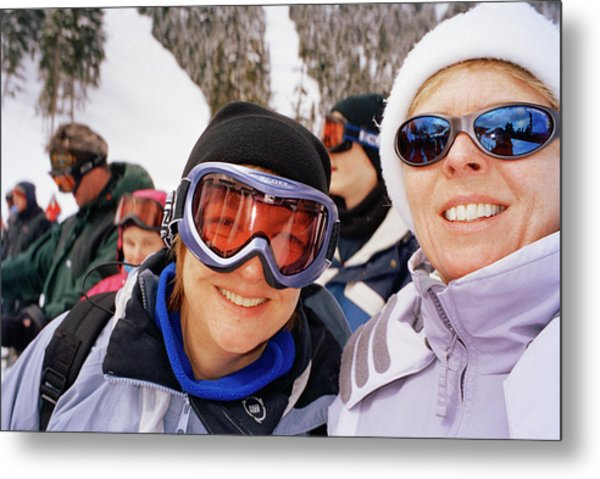 Skiers Metal Print by Martin Riedl/science Photo Library