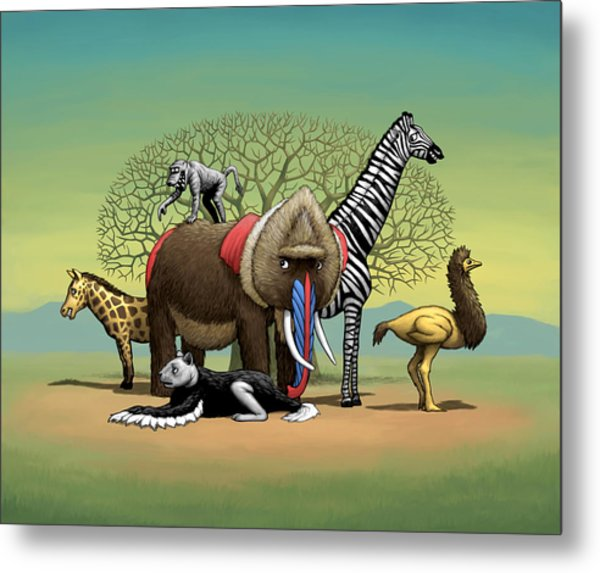 Strange Safari Metal Print