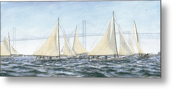Skipjacks Racing Chesapeake Bay Maryland Metal Print