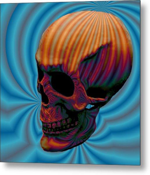 Skull Aura Orange Metal Print by Jason Saunders