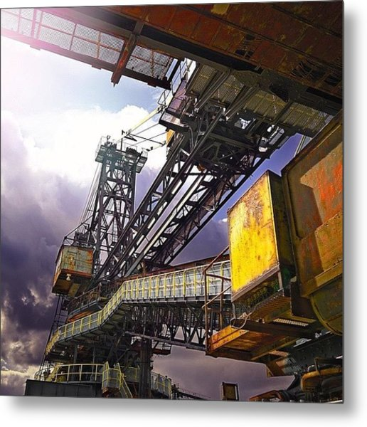 #sky #architecture #industrie #summer Metal Print