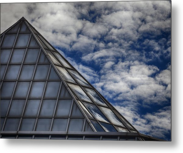 Sky Clouds And Glass Metal Print by Robert Ullmann