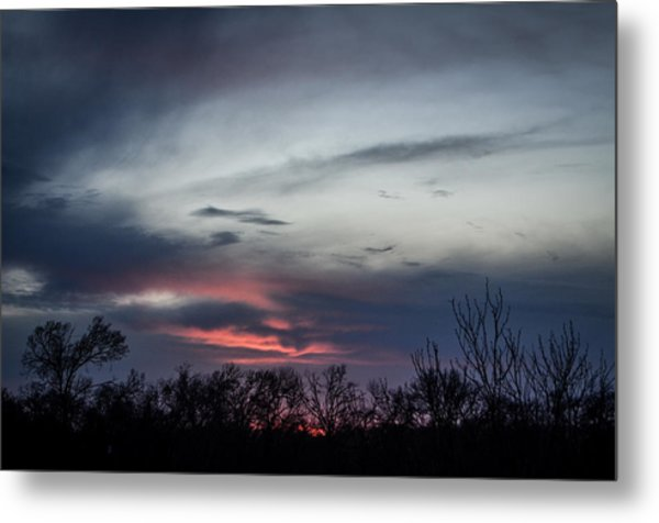 Sky Faces Metal Print by Kelly Kitchens