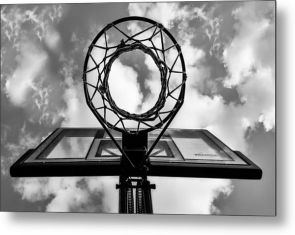 Sky Hoop Basketball Time Metal Print