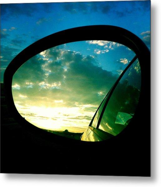 Sky In The Rear Mirror Metal Print