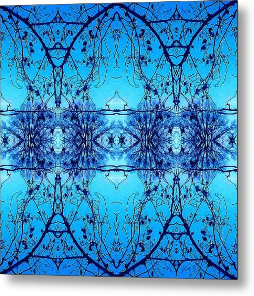 Sky Lace Abstract Photo Metal Print