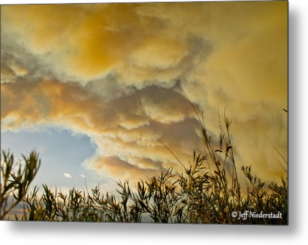 Sky Of Smoke Metal Print