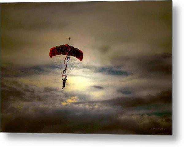 Evening Skydiver Metal Print
