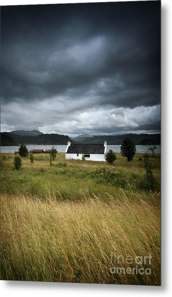 Skye Cottage Metal Print