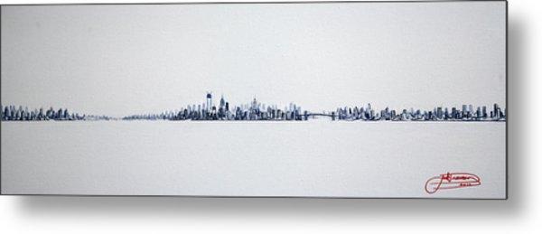Skyline 10x30-2 Metal Print