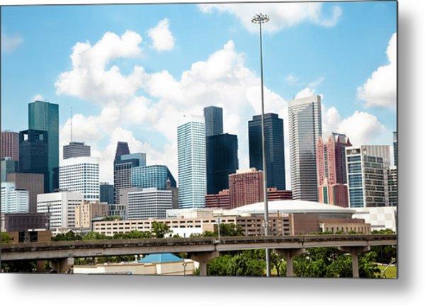 Skyline Of Downtown Houston Texas Metal Print by Fstop123