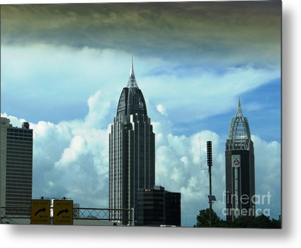 Skyline Over  Mobile Metal Print