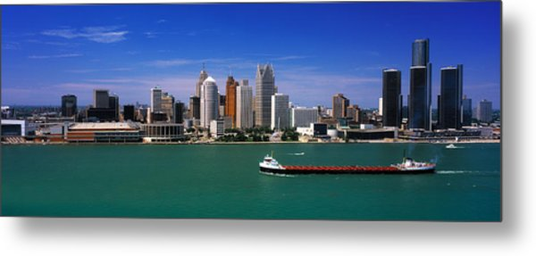 Skylines At The Waterfront, River Metal Print
