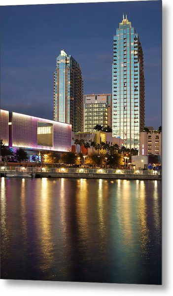 Skypoint Reflection At Dusk Metal Print