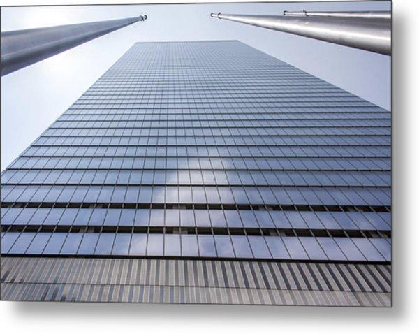 Skyscraper In New York Metal Print by Rostislav Bychkov