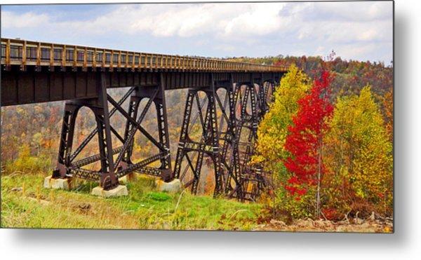 Skywalk Kinzua Bridge State Park Mckean County Pennsylvania Metal Print