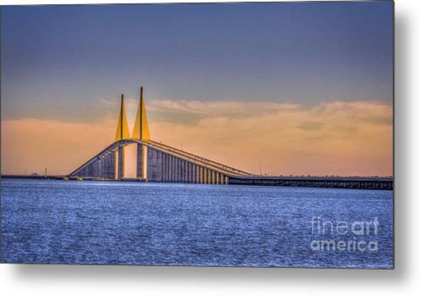 Skyway Bridge Metal Print
