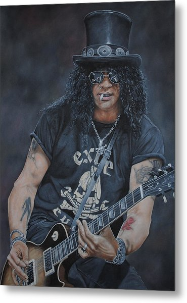 Slash Live Metal Print
