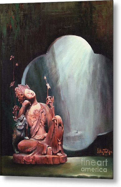 Sleeping Kuan Yin Metal Print