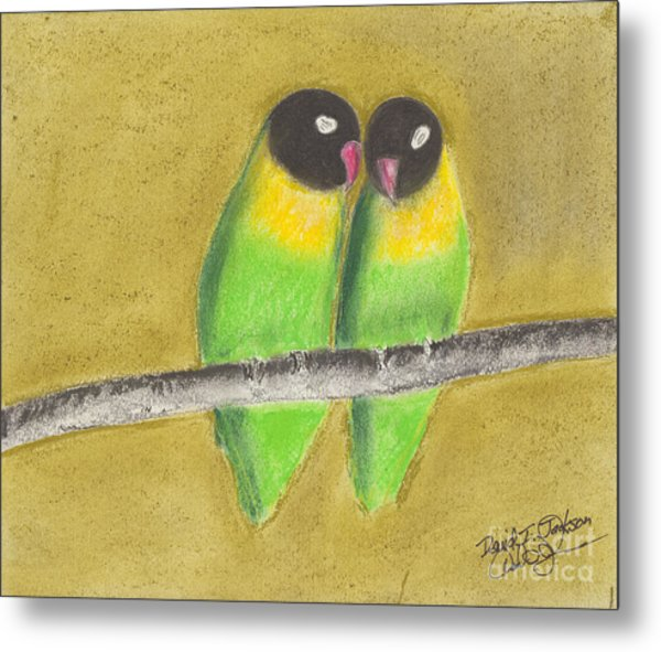 Sleeping Love Birds Metal Print
