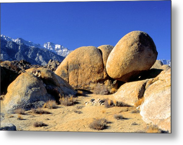 Sleeping Rock Alabama Hills Metal Print