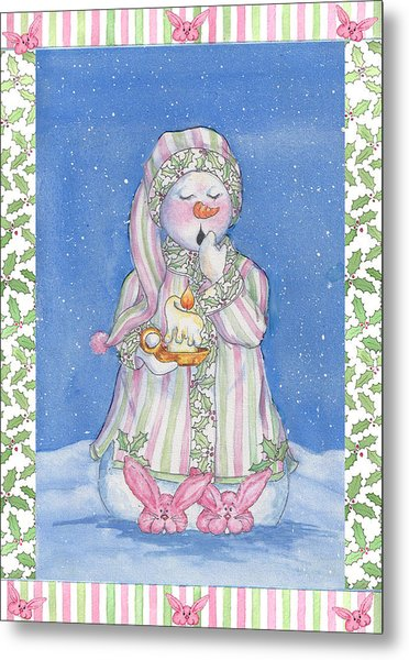Sleepy-time Snowgal Metal Print