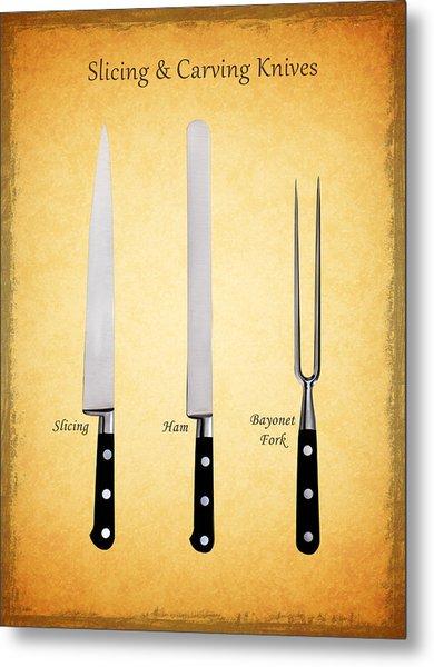 Slicing And Carving Knives Metal Print