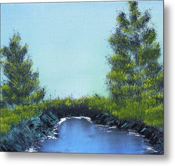Slickrock Pond Metal Print
