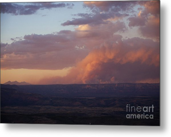 Slide Fire Sunset Metal Print