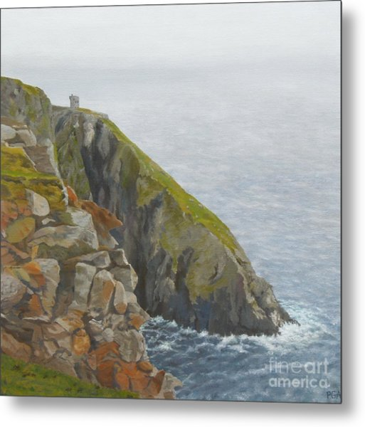 Slieve League County Donegal Metal Print