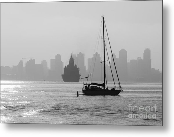Slipping Into Port 5-2628-2 Metal Print by Stephen Parker